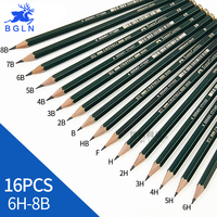 Faber Castell 16Pcs Set CASTELL9000 Green Pencil Sketch Drawing Classic Art Student Stationery School Supplies
