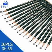 Купить Faber Castell 16 шт. эскиз рисунок Карандаши нетоксичные Стандартные карандаши 6h-8b различной твердости карандаш канцелярские школьные принадлежности