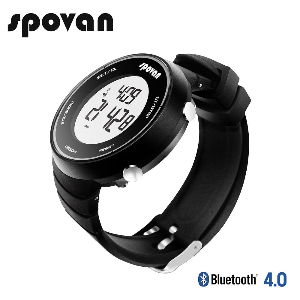 SPOVAN Men Women Smartwatch Outdoor 5ATM Waterproof Message Reminder Ultra long Standby Bluetooth male female Sports Watch ST06