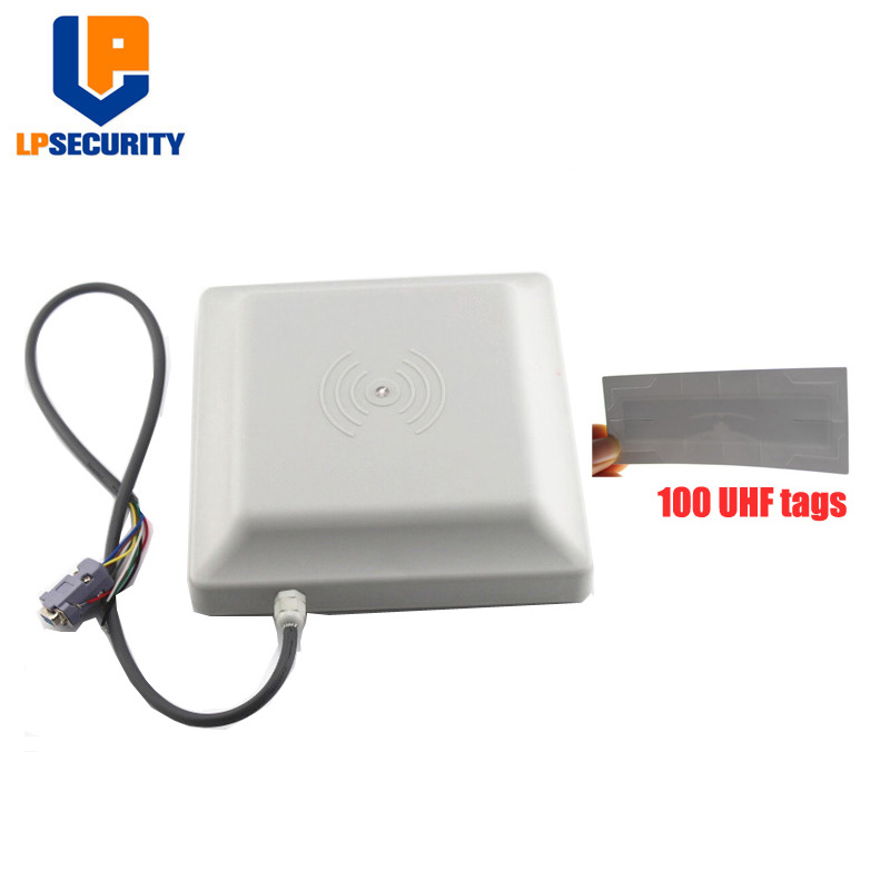 LPSECURITY Integrative UHF RFID Card Reader 6M Long Range 8dbi Antenna RS232/RS485/WG26 100 Cards Optional Of Parking System