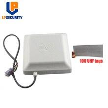 LPSECURITY متكاملة UHF قارئ بطاقات التعريف بالإشارات الراديوية 6 متر طويلة المدى 8dbi هوائي RS232/RS485/WG26 100 بطاقات اختياري من نظام صف سيارات