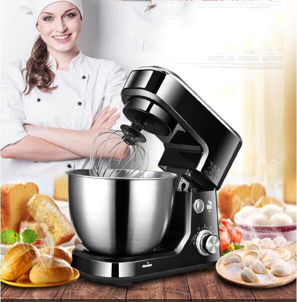 1000 w Électrique stand de cuisson Alimentaire Mélangeur oeuf batteur Mélangeur pâte Cuisson crème À Fouetter tilt tête cuisine chef Machine 5.5L