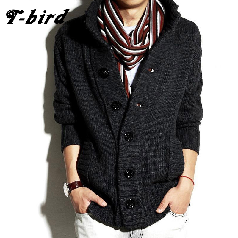T bird 2017 Brand Fashion Mens Wool Cardigan Sweaters Men'S Thick ...