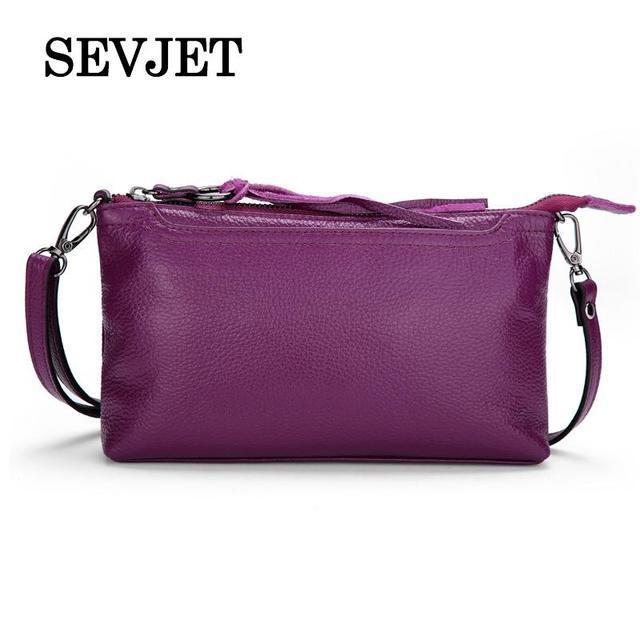 2017 New Brand Genuine Leather Women Handbags Ladies Solid Shoulder Crossbody Bag For Women Messenger Bags Tassel Clutch A1742