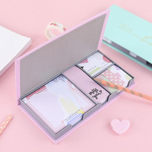 Kawaii Poster Letter Diary Memo Pad Set Notes Bookmark School Office Supply Learning Planner Marker Stationery Set Sticky Notes(China)