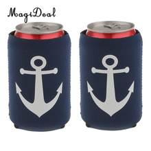 MagiDeal 2 / 3 pièces ancre nautique Soda bouteille de bière boîte de conserve refroidisseur support de manchon de refroidissement-7 Styles approvisionnement de fête de mariage