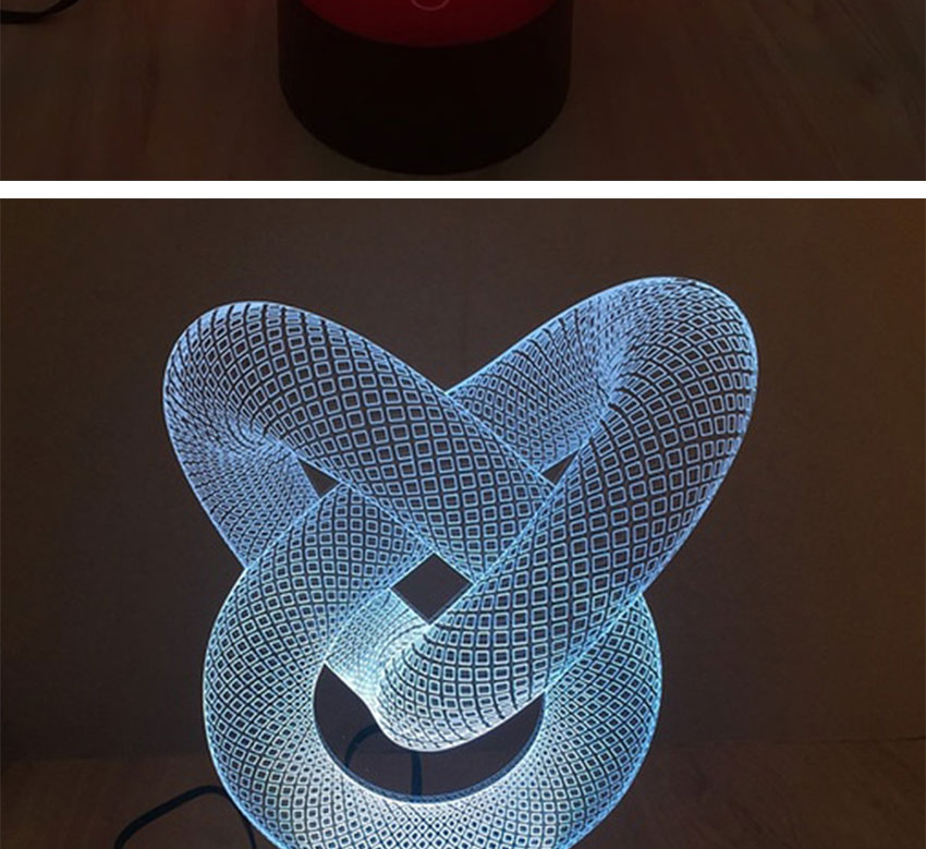 USB powered double heart isual illusion 3D night lamp LED lights with 7 colors changing Christmas gifts for kids children (3)