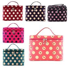 Beauticians Trendy Cherry-Pattern Big Travel Wash Organizer Case Toiletry Cosmetic Makeup Zipper Bag Multi` Large Capacity 40