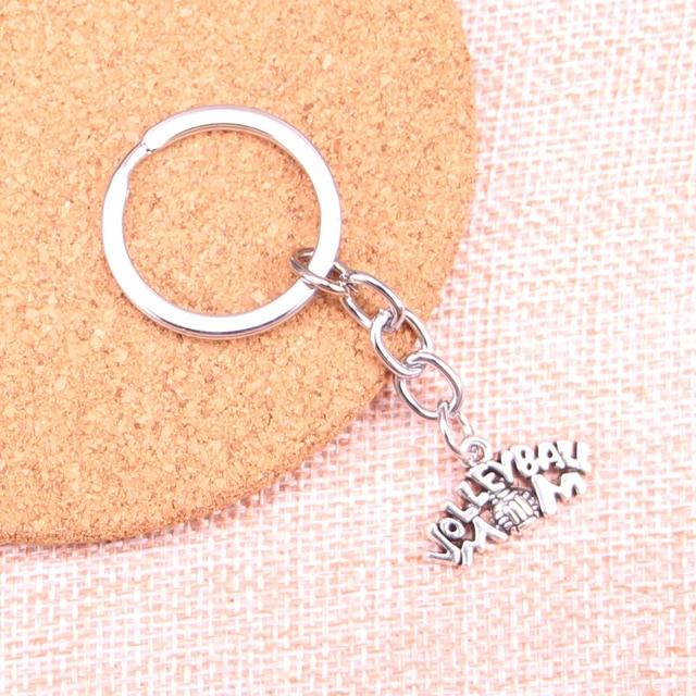 Novedad voleibol mamá encanto colgante llavero cadena accesorios joyería para regalos