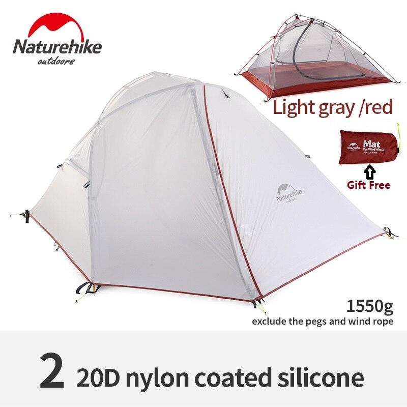 Naturehike Silent Wing series three season aluminium pole tent outdoor single double camping mountaineering tents wind rainproof