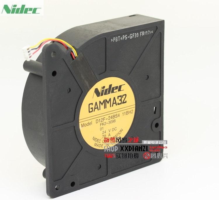 Original nidec GAMMA32 D12F-24BS4 12CM 12032 24V 0.70A turbo blowers