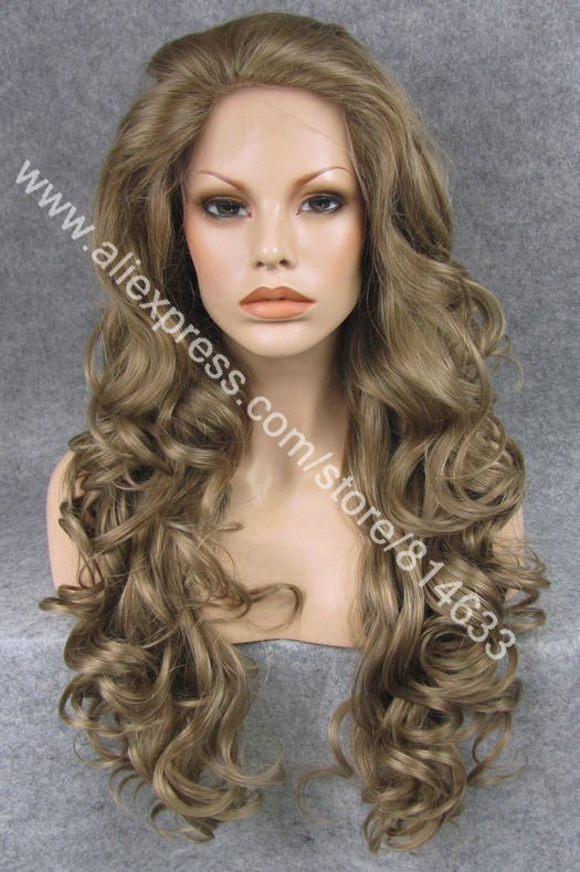 #16/8 Dirty Blonde 26 Long Realistic Charming Wavy Synthetic Wig Fashion Heat Resistant Synthetic Wig S05