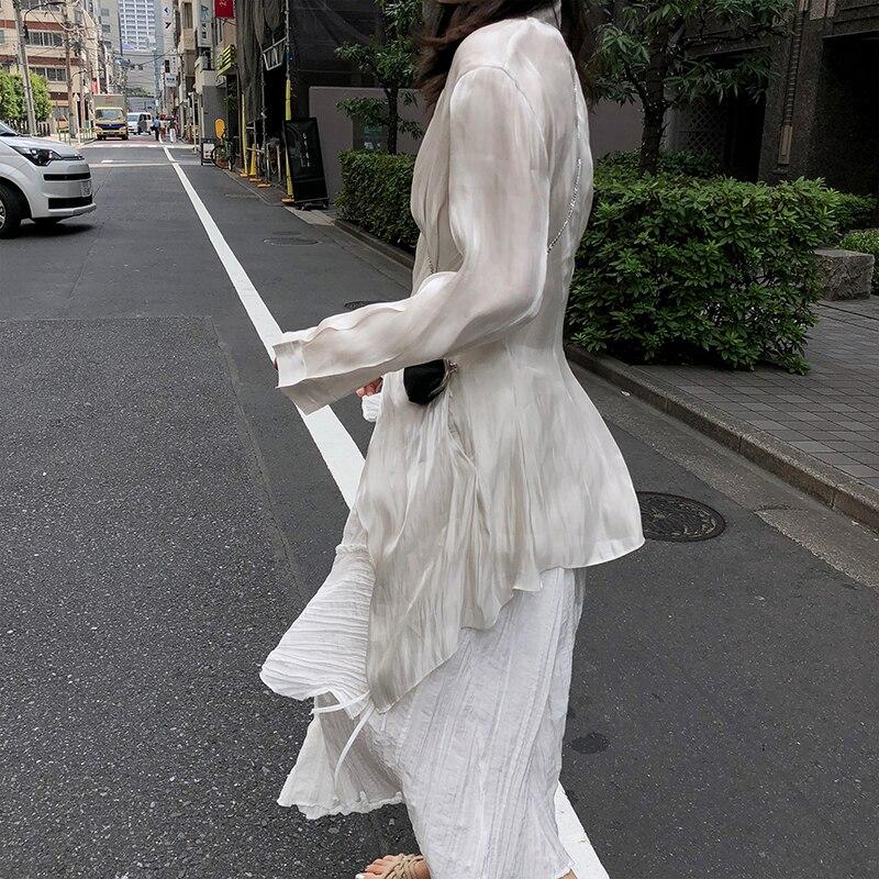 Sólido Cuello De Camisa En Plisado Blusa Color V See Asimétrica Nuevo Corea Completa xitao Moda Las Invierno Larga Mujer 2018 Manga Mujeres Picture Dll1156 Tnx6qwzpqA