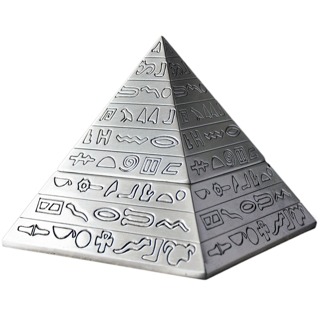 creative fashion decoration classic vintage Egyptian metal carved pyramid with lid ashtray home decoration gift