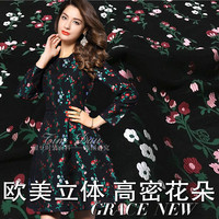 Fabric for patchwork high density three dimensional flower yarn dyed jacquard cloth dress diy fabric wholesale jacquard cloth