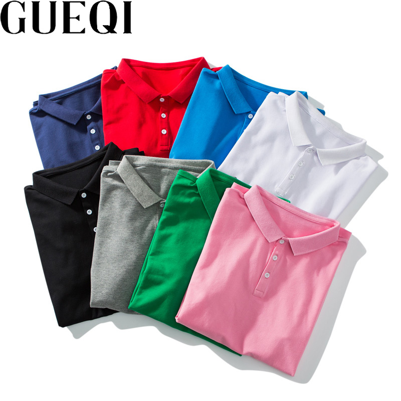 Gueqi candy color men polo shirts plus size m 3xl solid color summer clothing 2017 man