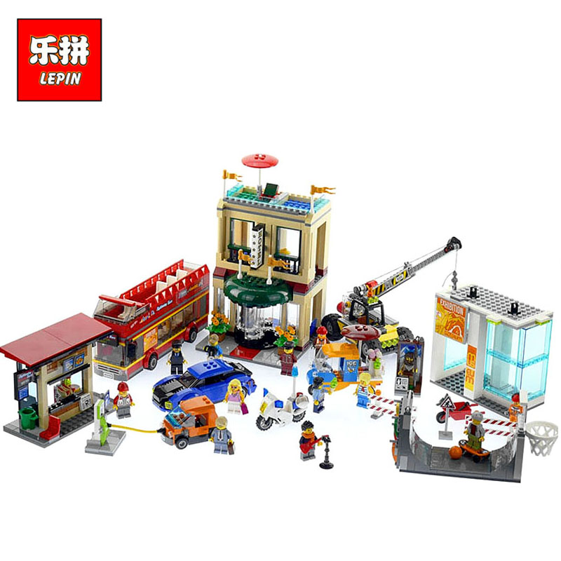 цена Lepin 02114 City Series the Downtown Capital City Compatible Legoinglys Blocks 60200 Educational Toys with Crane Bus Car Bricks