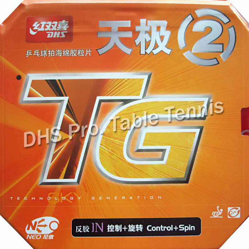 DHS NEO Skyline TG2 NEO TG-2 NEO TG 2 Pips-In Table Tennis PingPong Rubber With Sponge  For PingPong Paddle