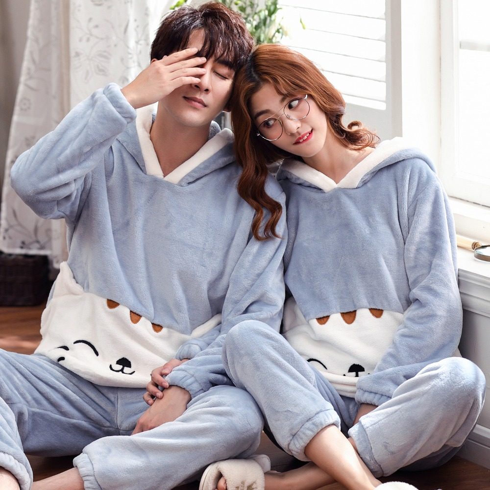 Pyjama Femme Feminino Night Winter Plus Size L-6XL 7XL 8XL  Thick Flannel Sleepwear Women Set Coral Fleece Big Sets 40-140 Kg