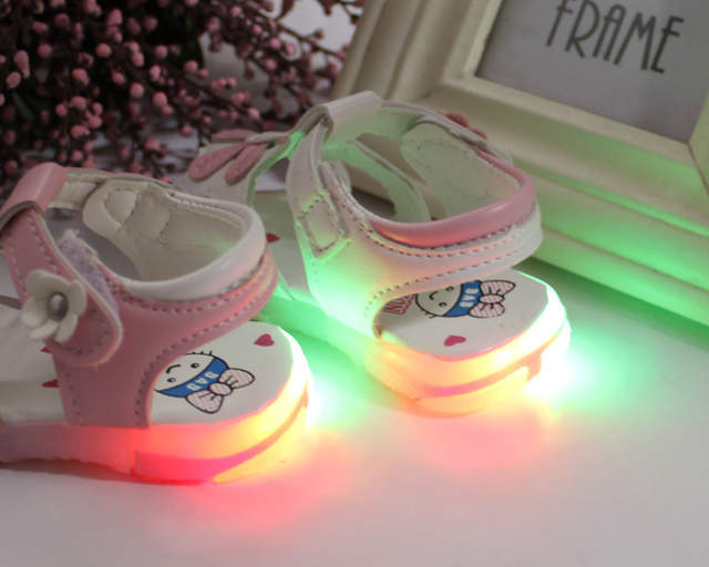 c6b8941037e36 placeholder Children shoes girls summer sandals lighted shoes baby girl s  summer sandals and first walkers sandals
