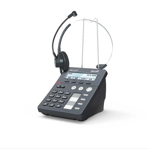 ATCOM CT10 with H011A Headset Call center SIP Phone ,1 sip agent IP Phone with IPV6 OpenVPN TR069 and auto answer