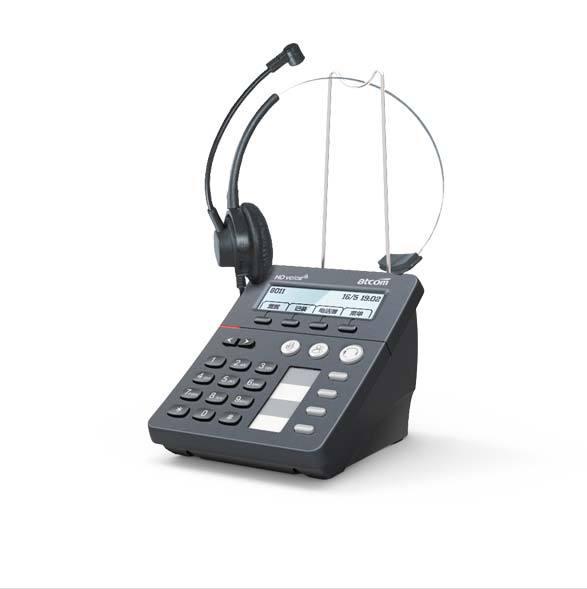 Atcom CT10 с H011A гарнитура центра обработки вызовов SIP-телефон, 1 SIP агента ip-телефона с IPV6 OpenVPN TR069 и auto answer