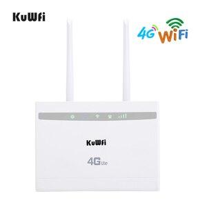 Image 1 - KuWfi 4G LTE CPE راوتر 150Mbps لاسلكي CPE راوتر 3G/4G سيم بطاقة موزع إنترنت واي فاي دعم 4G إلى شبكة سلكية تصل إلى 32 جهاز واي فاي