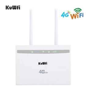 Image 1 - KuWfi 4G LTE CPE Router 150Mbps Wireless CPE Router 3G/4G SIM Card Router Wifi supporto 4G a Rete Cablata fino a 32 Dispositivi Wifi