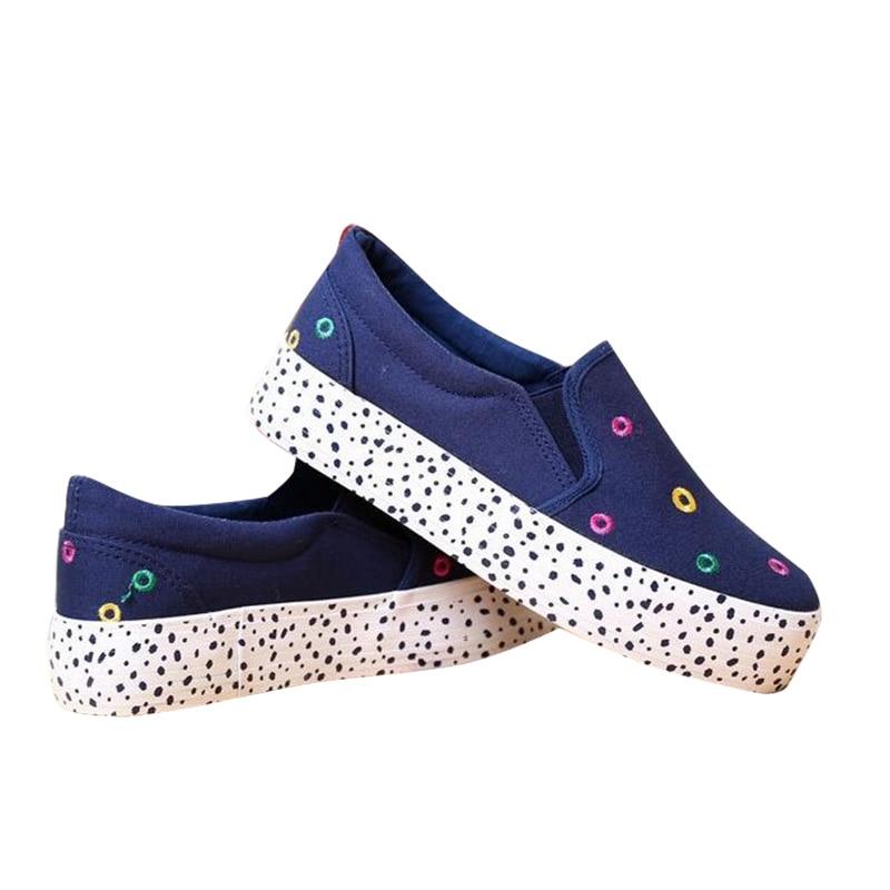 Slip Sneaker Para Llegado De Casuales Plataforma Mujer Zapatos Recién Mulher Zapatillas Sapatos Lona Deportivas Platform blue 2015 La Platform Black Mujeres On SOF7dqw