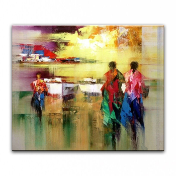 Hand painted oil painting Home decoration painting canvas painting knife painting landscape pictures  DM16112601
