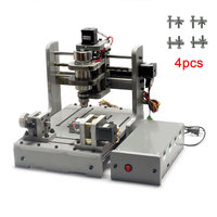 CNC mini 4axis engraving machine wood router usb 300W with Mach3 software and 4 pcs free mini clamps