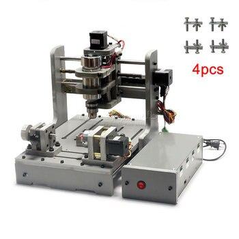 CNC мини 4 оси гравировальный станок деревянный маршрутизатор usb 300 Вт с программным обеспечением Mach3 и 4 шт бесплатные мини зажимы
