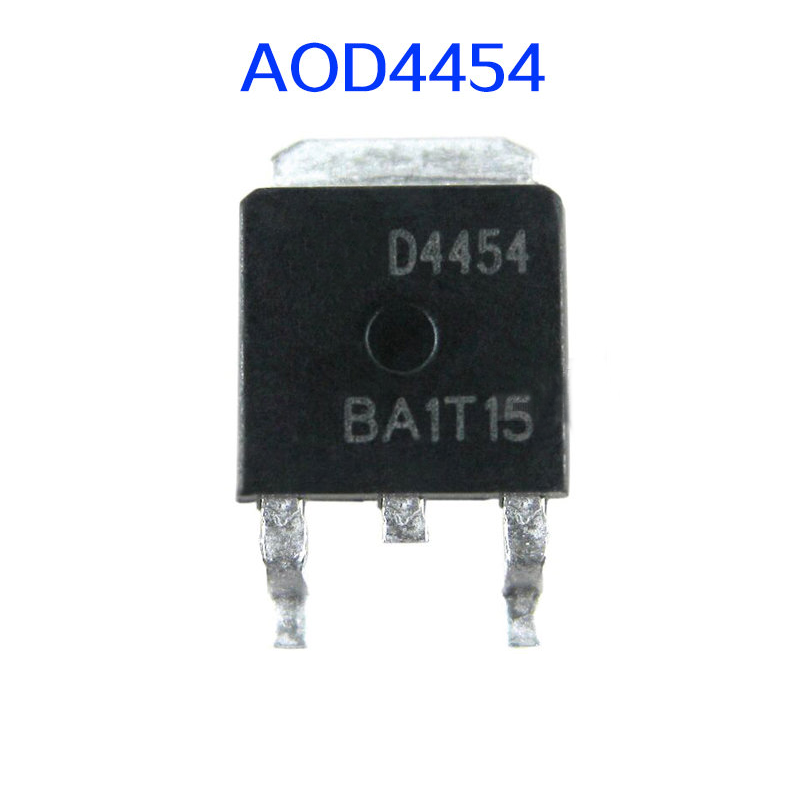 10pcs  D4454 AOD4454 A0D4454 24454 Liquid Crystal Power MOS Tube Patch TO-252 150V/20A