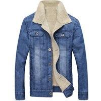 2016 Autumn And Winter Men Jean Jacket Men Thick Denim Jackets For Men Stand Collar 100