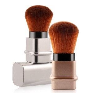 Image 2 - Portable 1Pcs Intrekbare Borstel Kleine Telescopische Borstel Cosmetische Gezicht Blusher Verstelbare Poeder Foundation Blush Brush voor Reizen