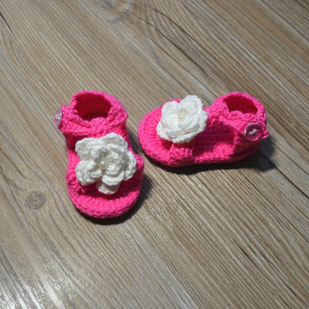 QYFLYXUE-Gehaakte babyschoenen, gehaakte baby slofjes, Baby ballerina - Baby schoentjes - Foto 5