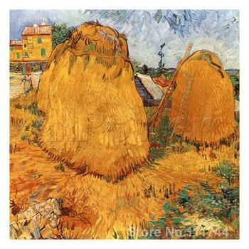 Modern art Meules De Foin En Provence by Vincent Van Gogh paintings for living room Hand painted High quality