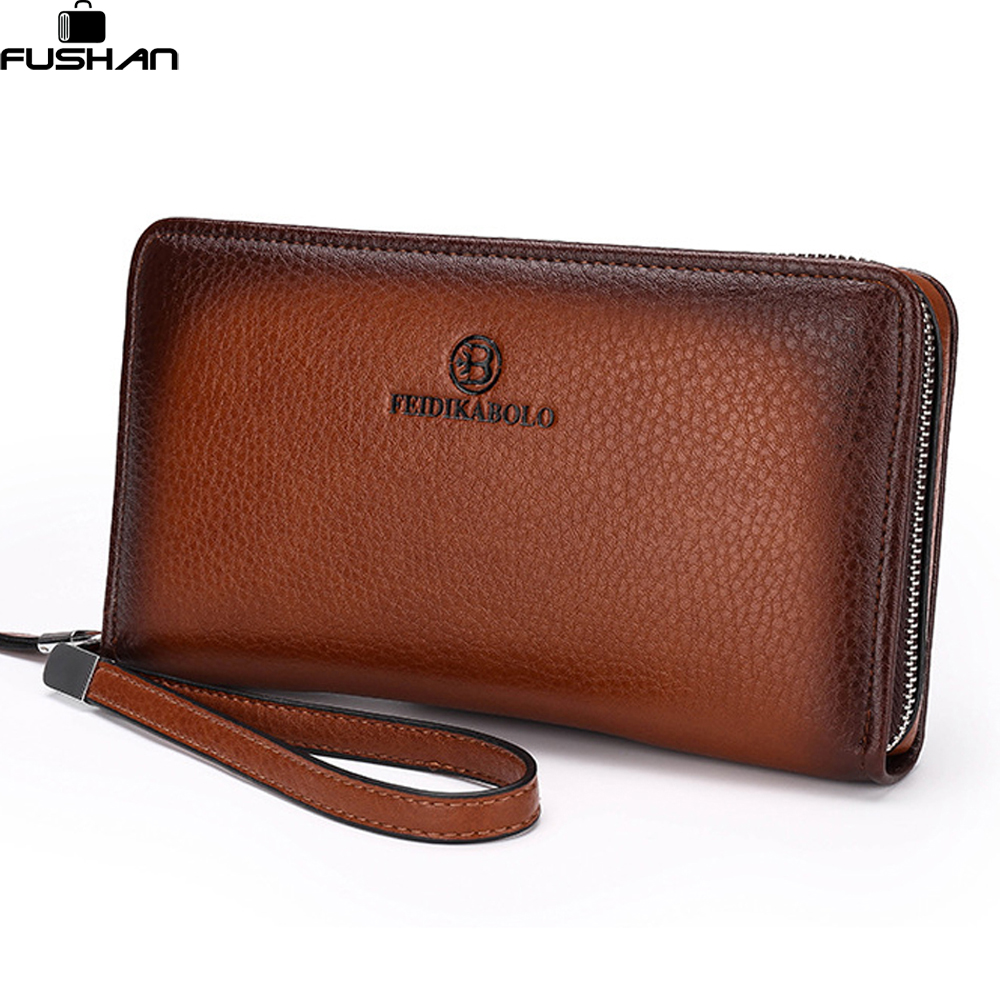 Mens Wallet Leather Genuine Designer Male Purse Casual Men Wallets Carteira Masculina Long Famous Brand Clutches Dollar Price