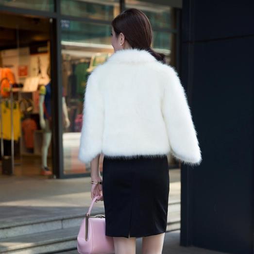 Blanc Épaississent Feminino Cuir Renard Sexy D'hiver Femmes G453 Fourrure Vison Manteaux 2019 En Court De Faux OwP7xTAq