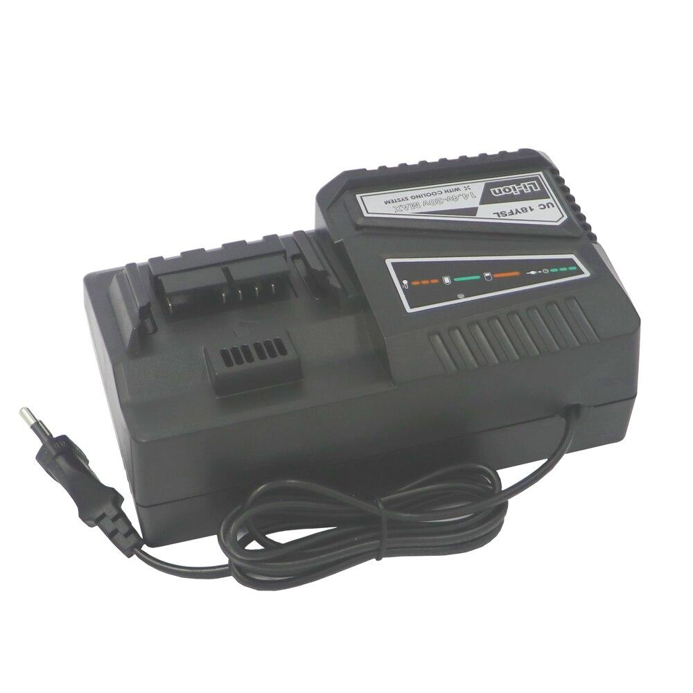 UC18YFSL batterie au Lithium chargeur plus rapide pour HITACHI batterie OUTPUT14.4V-18V 4.5A entrée 100-240 V 50/60Hz 120 w chargeur de forage