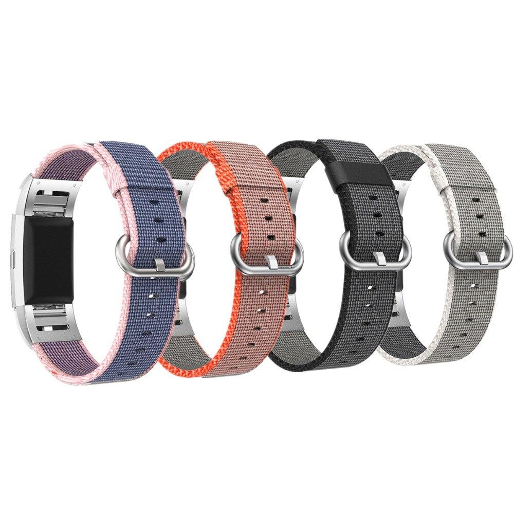 LONP nylonband für fitbit Ladung 2 band Sport armband gürtel Stoff Gewebt Nylon Ersatz Armband für fitbit Charge2 uhr