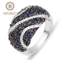 GEM'S BALLETTO Diffusione Sapphire 925 sterling silver Anelli di Pietre Preziose Naturali Per Le Donne del Regalo Accessori Moda Vintage