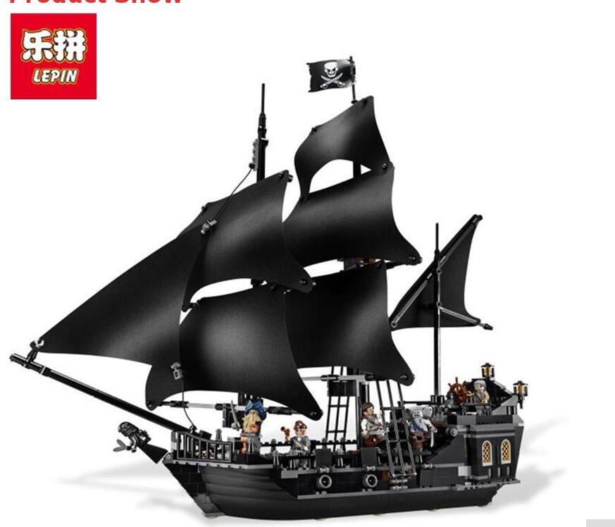804pcs New LEPIN 16006 Pirates of the Caribbean The Black Pearl Building Blocks Set Compatible 4184 children Gift waz compatible legoe pirates of the caribbean 4184 lepin 16006 804pcs the black pearl building blocks bricks toys for children