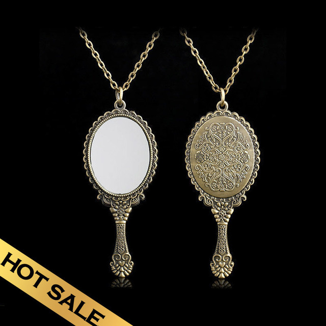 Special Chain Necklaces Mirror Classic Handmade Vintage Design Free Shipping Pendant Jewelry XLE02A05A