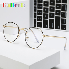 Ralferty, синий светильник, блокирующая оправа для очков, женские ретро круглые металлические очки, защитные очки, oculo de grau A8729
