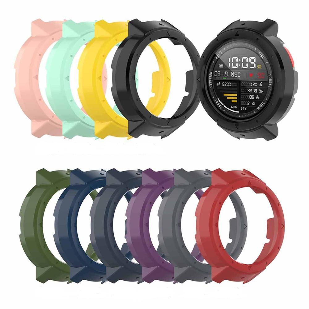 New 10 Colors Protective Case Cover Protector Frame Shell Accessories Durable Slim for Amazfit Verge Smart Watch-in Smart Accessories from Consumer Electronics