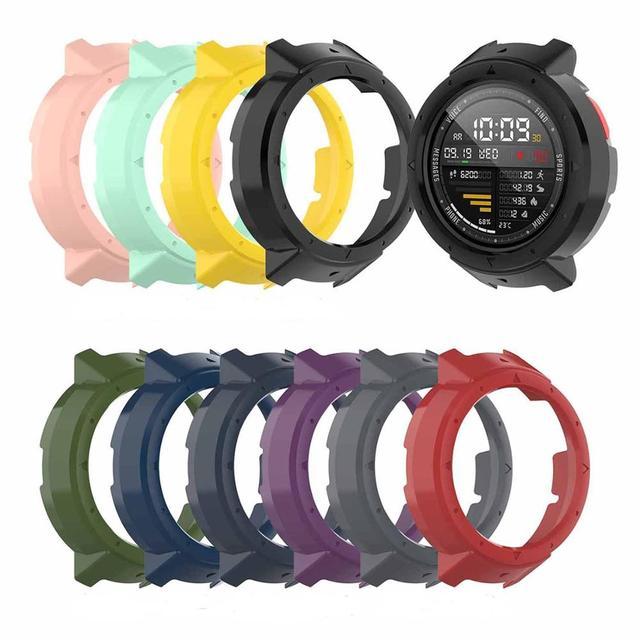 Nieuwe 10 Kleuren Beschermende Case Cover Protector Frame Shell Accessoires Duurzaam Slim Voor Amazfit Rand Smart Horloge