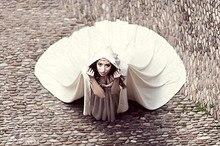 Capa de boda capucha nupcial capa de satén con capucha handfasting