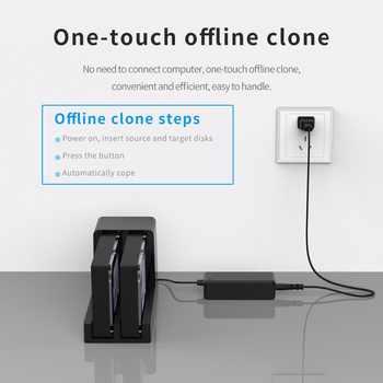 ORICO 2 Bay 2.5 3.5 inch USB 3.0 HDD Enclosure Offline Clone HDD Docking Station Hard Drive Support 10TB HDD Case