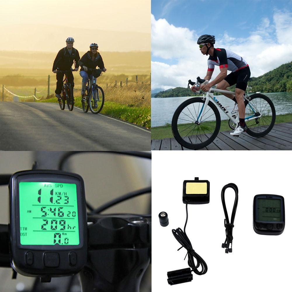 High quality Digital Speedometer Odometer large LCD Green backlight Waterproof Bike Bicycle Cycling Computer Speedometer Durable